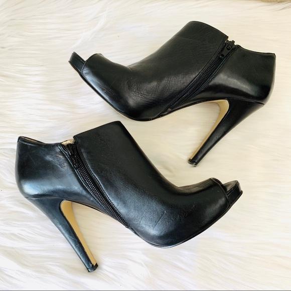 Nine West Shoes - {Nine West} Leather Phantom Peep Toe Booties